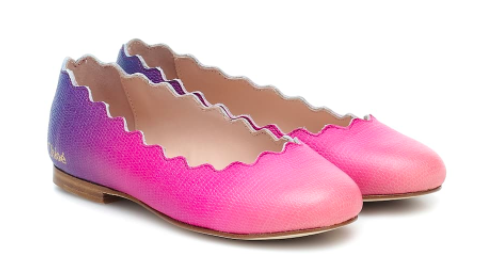 Chloe Kids leather ballet flats, S$192 (was S$275), 30% off. PHOTO: Mytheresa