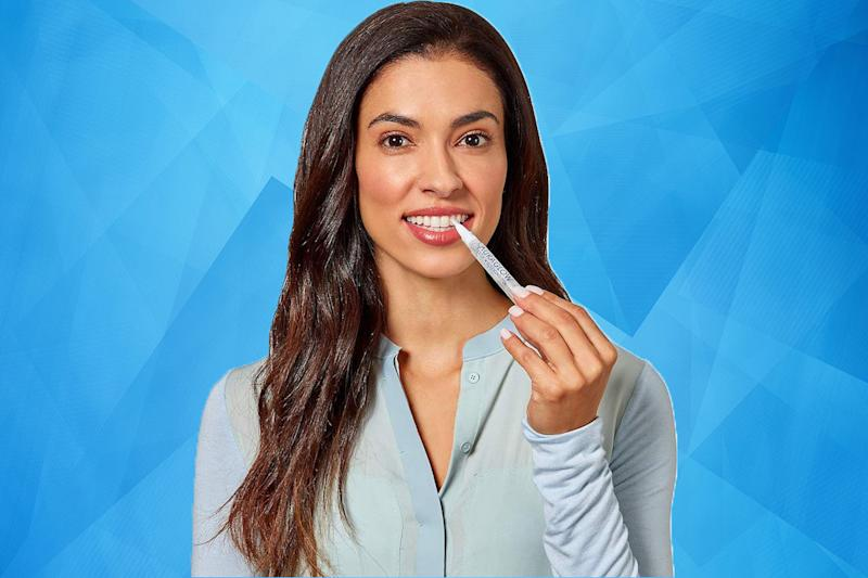 Teeth whitening kits and pens are deeply discounted today. (Photo: Getty)