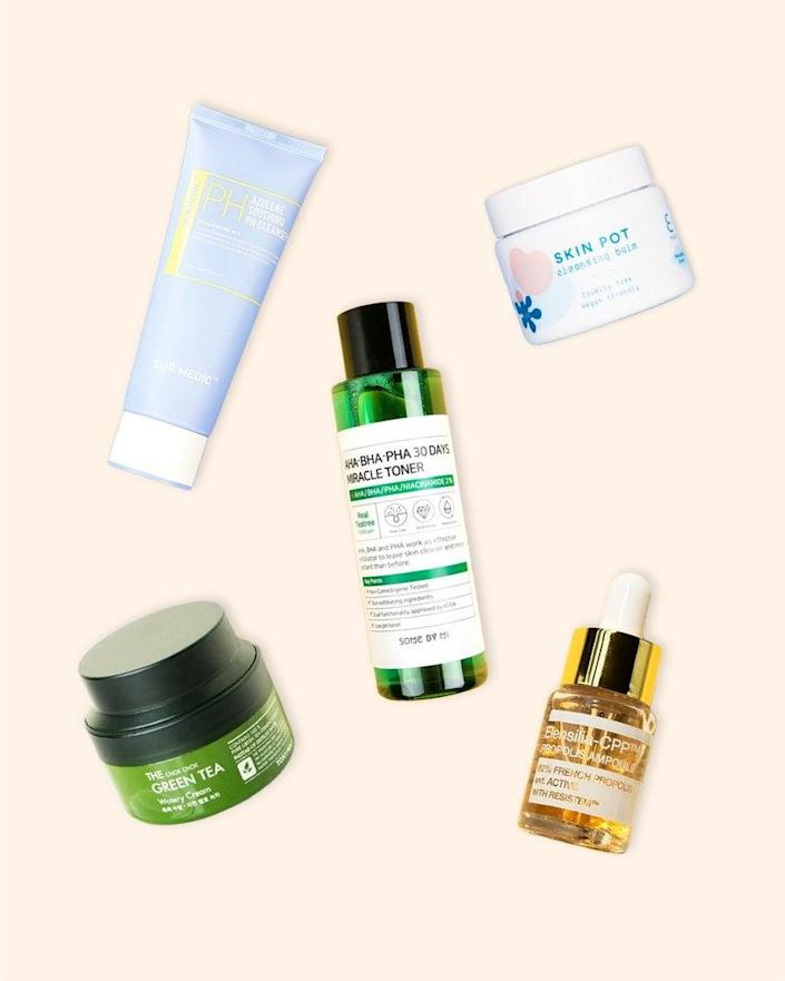 "<h2>Soko Glam Quick Starter Skincare Set</h2><br><strong>Resolution: Take Care Of Your Skin</strong><br>The atmosphere that swirls around perfecting a skincare regimen is daunting — choose the wrong products and you could break out or don't buy any products and you feel like you're hanging your skin out to dry. Skip the stress and pick up Soko Glam's quick and easy starter kit instead. One-click at checkout and you're off to the races with a cleansing balm, soothing cleanser, toner, ampoule, and a moisturizer.<br><br><em>Shop</em> <strong><em><a href=""http://sokoglam.com"" rel=""nofollow noopener"" target=""_blank"" data-ylk=""slk:Soko Glam"" class=""link rapid-noclick-resp"">Soko Glam</a></em></strong><br><br><strong>Soko Glam</strong> Quick Starter Skincare Set, $, available at <a href=""https://go.skimresources.com/?id=30283X879131&url=https%3A%2F%2Fsokoglam.com%2Fcollections%2Fsets%2Fproducts%2Fkorean-skincare-quick-starter-set"" rel=""nofollow noopener"" target=""_blank"" data-ylk=""slk:Soko Glam"" class=""link rapid-noclick-resp"">Soko Glam</a>"