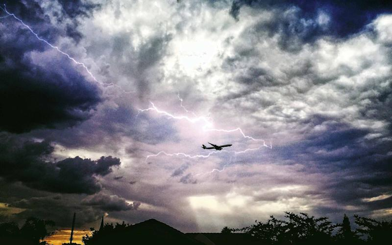 Aeroplanes have metal shells that prevent passengers being affected by lightning - Copyright 2016. All rights reserved.