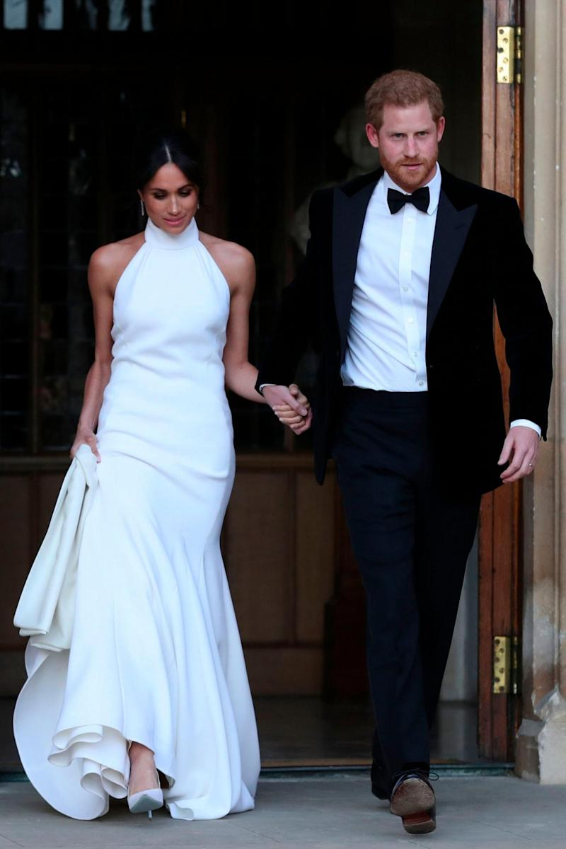 Prince Harry and Meghan Markle on their wedding day (AFP/Getty Images)