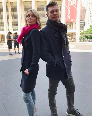 "<p>""Happy bday to the amazing @kellyripa!"" her <em>Live!</em> co-host cheered. ""Not only did I score the best TV wife, she's also become one of my best friends."" Ripa turned 47 on Monday. (Photo: <a href=""https://www.instagram.com/p/BZwwgQHD_Ye/?taken-by=ryanseacrest"" rel=""nofollow noopener"" target=""_blank"" data-ylk=""slk:Ryan Seacrest via Instagram"" class=""link rapid-noclick-resp"">Ryan Seacrest via Instagram</a>) </p>"