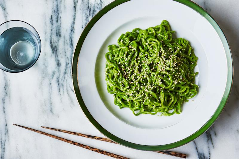 This super-green pesto is about to get a lot greener! (Not really; most CBD oils are more of a golden color).