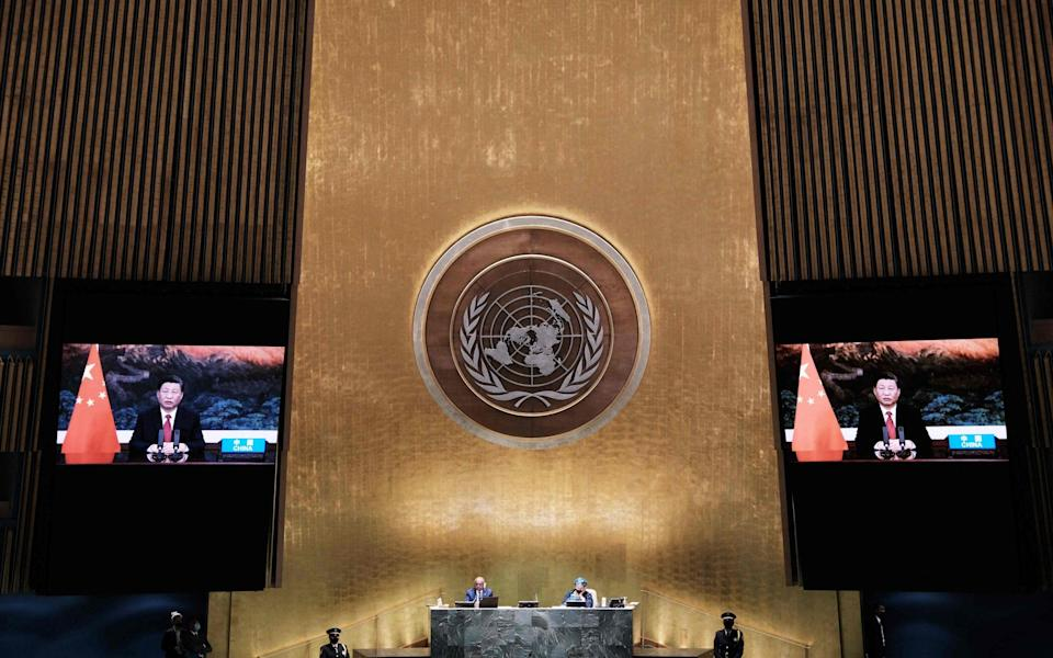 Xi Jinping virtually addresses the 76th Session of the UN General Assembly - AFP