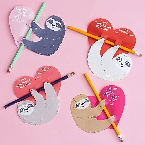 "<p>Surprise a sloth-lover by popping one of these cuties on their favorite pen and letting them know how much you enjoy hangin' with them.</p><br><br><strong>Paper Source</strong> Sloth Pencil Valentine Card Kit, $24.95, available at <a href=""https://www.papersource.com/craft/sloth-pencil-valentine-card-kit-10006343.html"" rel=""nofollow noopener"" target=""_blank"" data-ylk=""slk:Paper Source"" class=""link rapid-noclick-resp"">Paper Source</a>"