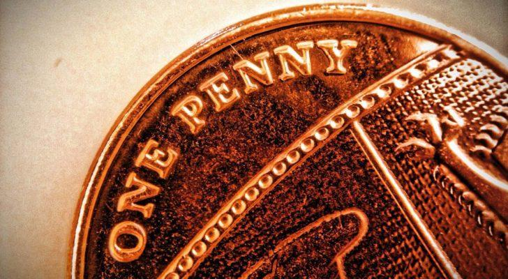A close up photo of a penny.