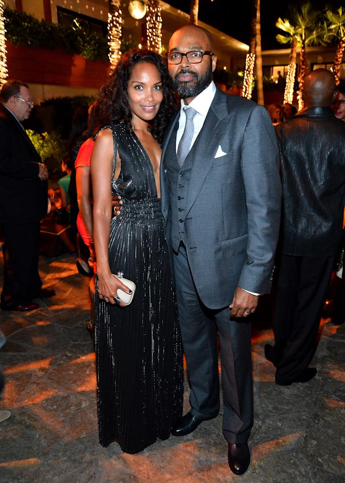"""HOLLYWOOD, CA - AUGUST 16:  Writer/producer Mara Brock Akil and Director Salim Akil attend after party for the Tri-Star Pictures' """"Sparkle"""" premiere at The Roosevelt Hotel on August 16, 2012 in Hollywood, California.  (Photo by Frazer Harrison/Getty Images)"""
