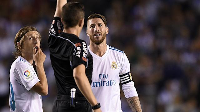 The Los Blancos skipper lamented the refereeing in La Liga following his record-equalling send-off on Sunday