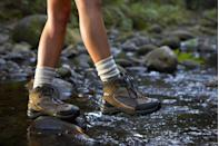 """<p>Ask any experienced adventurer, and they'll tell you the same thing: What you wear is just as important as what you pack—especially when it comes to your hiking boots. After all, as far as <a href=""""https://thepioneerwoman.com/home-lifestyle/g32325086/hiking-essentials/"""" rel=""""nofollow noopener"""" target=""""_blank"""" data-ylk=""""slk:hiking essentials"""" class=""""link rapid-noclick-resp"""">hiking essentials</a> go, there are few items more important than your shoes, which can easily make or break your adventure.</p><p>Luckily, we've made the shopping experience a little easier by curating a selection of the best hiking boots for women out there. Whether you're trekking up a mountain or just need a sturdy pair of shoes to wear outside (on a ranch, perhaps!), these styles will fit your needs. </p><p>Of course, as with any bigger-ticket purchase, it's important to shop smart. For starters, it can be helpful to choose a brand you've worn before. Second, after you've bought the boots, try them on at night, rather than in the morning. Feet usually swell after standing and walking, so trying on shoes at the end of the day ensures they won't be too small. When you do try them on, wear thick hiking socks or <a href=""""https://www.thepioneerwoman.com/fashion-style/g34099287/best-wool-socks/"""" rel=""""nofollow noopener"""" target=""""_blank"""" data-ylk=""""slk:wool socks"""" class=""""link rapid-noclick-resp"""">wool socks</a>. Then, wiggle your toes. If you can't comfortably move in the shoes, you need to size up. </p><p>Finally, take a walk around the house. You'll be traveling a considerable distance in your new boots and should test out their comfort by walking around your home and up and down the stairs. But remember, most hiking boots require some time to break in.</p><p>P.S. Replenishing your entire shoe wardrobe? We've also got great suggestions for <a href=""""https://www.thepioneerwoman.com/fashion-style/g32475518/best-cowboy-boots/"""" rel=""""nofollow noopener"""" target=""""_blank"""" data-ylk=""""slk:cowboy boots"""" class=""""l"""