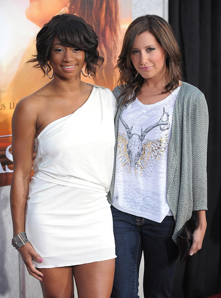 "<a href=""http://movies.yahoo.com/movie/contributor/1808513410"">Monique Coleman</a> and <a href=""http://movies.yahoo.com/movie/contributor/1804504114"">Ashley Tisdale</a> at the Los Angeles premiere of <a href=""http://movies.yahoo.com/movie/1810098775/info"">The Last Song</a> - 03/25/2010"