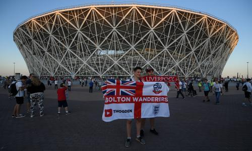 England fans enjoy stay in Volgograd with no repeat of Marseille violence