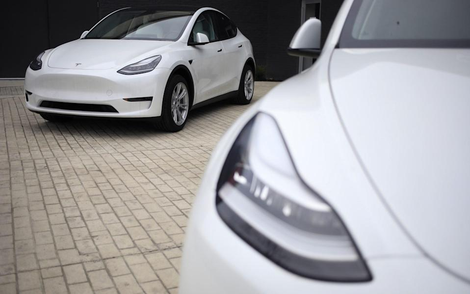 Tesla's Model S. Its electric cars are considered the world leaders in electric technology - BLOOMBERG