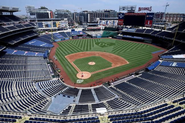 LEADING OFF: Opening day in DC, Dodger Stadium amid pandemic