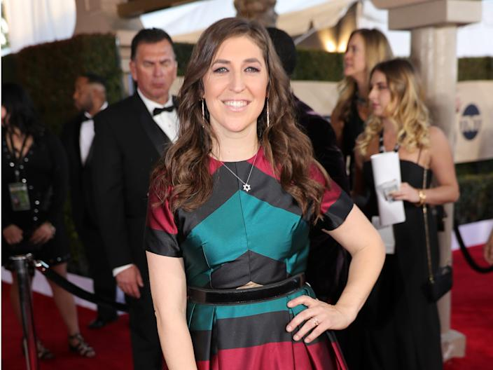 Mayim Bialik attends the Screen Actors Guild Awards in 2017.