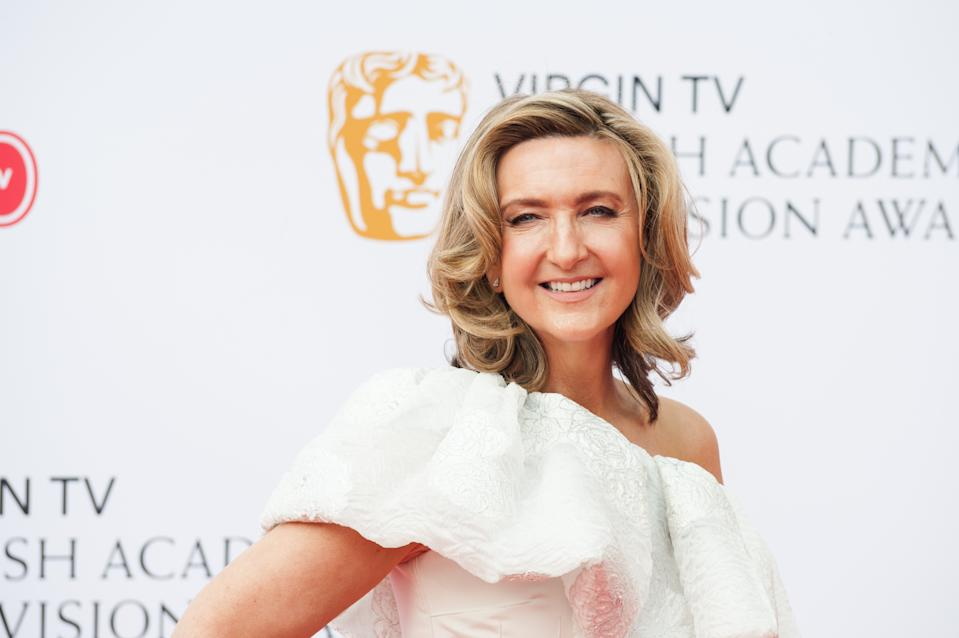 LONDON, UNITED KINGDOM - MAY 13: Victoria Derbyshire attends the Virgin TV British Academy Television Awards ceremony at the Royal Festival Hall on May 13, 2018 in London, United Kingdom. (Photo credit should read Wiktor Szymanowicz / Barcroft Media via Getty Images)