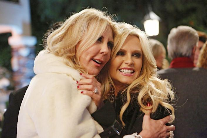 """<p>When OG Housewives Tamra Judge and Vicki Gunvalson announced they were leaving <em>The Real Housewives of Orange County </em>after season 14, it was revealed that both stars were slapped <a href=""""https://www.realitytea.com/2020/02/05/previous-contracts-prevent-vicki-gunvalson-tamra-judge-from-appearing-on-other-reality-shows-for-a-year/"""" rel=""""nofollow noopener"""" target=""""_blank"""" data-ylk=""""slk:with a 1-year non-compete"""" class=""""link rapid-noclick-resp"""">with a 1-year non-compete</a>, which prevents them from appearing on another reality show until the set date. </p>"""