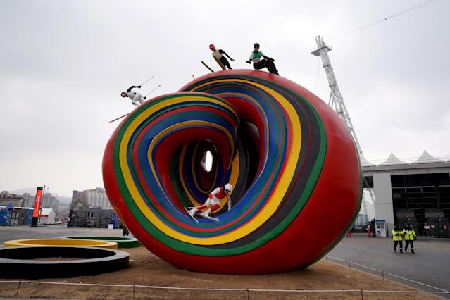 "<p><strong>THE UGLY</strong><br>""Wave"" Statue:<br>A strange statue of a colourful wave with various sports sitting near the Olympic Stadium at the Winter Olympic Park. Maybe I don't get art. (Getty Images) </p>"