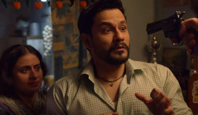 Rasika Dugal and Kunal Kemmu in a still from 'Lootcase', streaming on Hotstar.