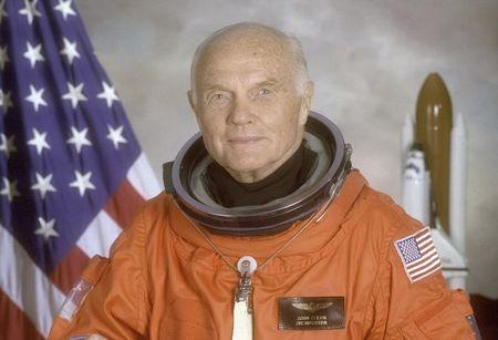 FILE PHOTO - Astronaut and U.S. Senator John Glenn poses for his official NASA photo