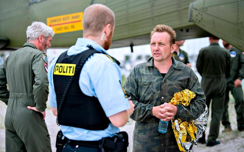 Peter Madsen was arrested after his submarine Nautilus sank and a journalist onboard disappeared - AFP