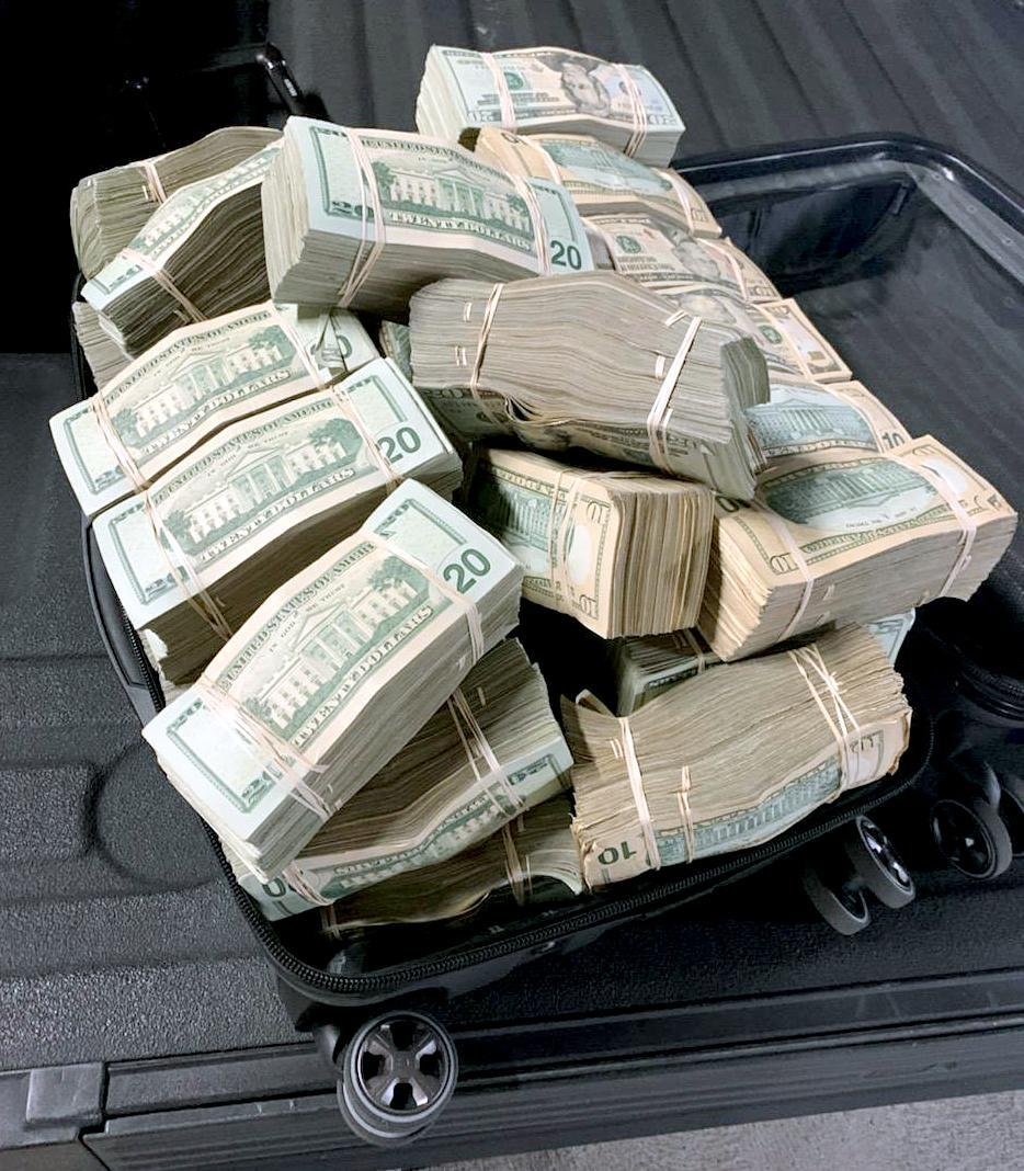 Part of a $1 million seizure in the Los Angeles area. (DEA)
