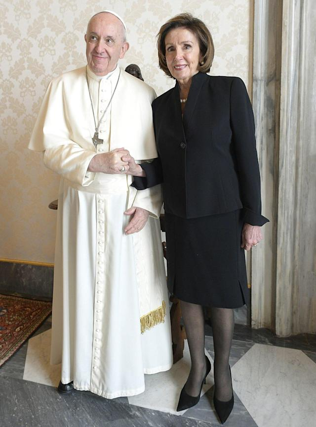 Nancy Pelosi Tells Pope Francis During Emotional Visit, 'You Overwhelm Me'