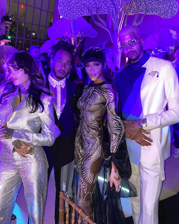 <p>Winnie Harlow shared a shot of some of the night's big names, including Kehlani. </p>