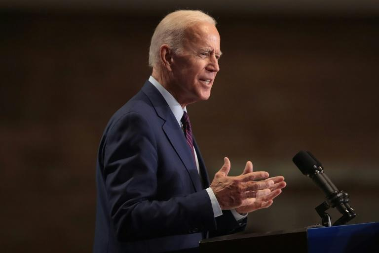 Heavily attacked by rivals during the first Democratic White House debate, Joe Biden used a speech in Chicago to defend his long pro-civil rights record (AFP Photo/SCOTT OLSON)