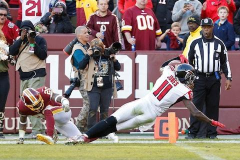 <span>Julio Jones scored his first touchdown in 343 days as the Falcons beat the Redskins</span> <span>Credit: Geoff Burke/USA Today </span>