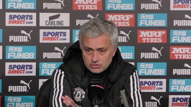 Jose Mourinho claims his Utd side will continue to train and work on their game management after Newcastle's winner came from another long ball