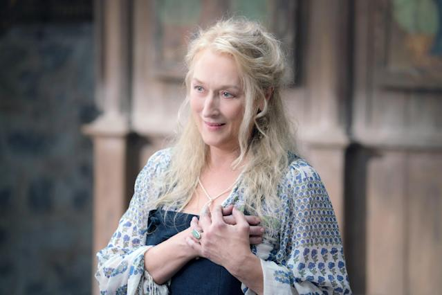 Does Donna (Meryl Streep) makes a beyond-the-grave cameo in the <em>Mamma Mia</em> sequel <em>Here We Go Again</em>? (Photo: Jonathan Prime/Universal Studios/Courtesy Everett Collection)