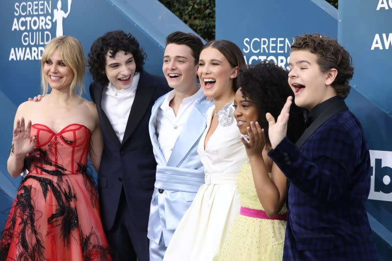 FILE PHOTO: 26th Screen Actors Guild Awards – Arrivals – Los Angeles, California, U.S., January 19, 2020 – Cast of Stranger Things