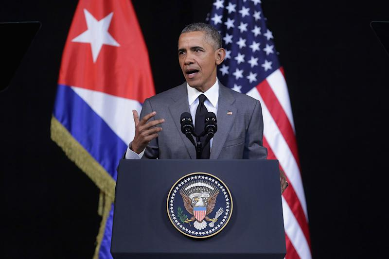President Obama speaking in Cuba in March. (Chip Somodevilla/Getty Images)