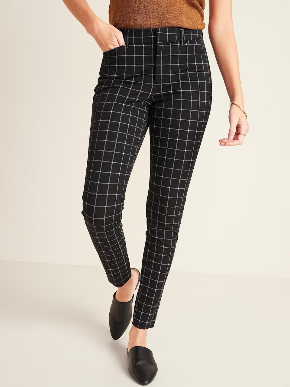 <p>These fun <span>Old Navy All-New High-Waisted Pixie Full-Length Pants</span> ($40) are easy to mix and match with anything.</p>