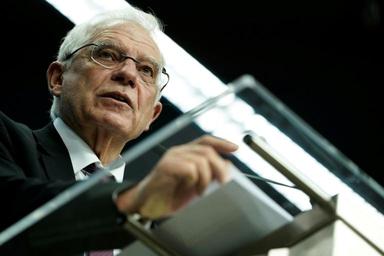 Borrell: 'The timeline is therefore extended' (AFP Photo/Kenzo TRIBOUILLARD)