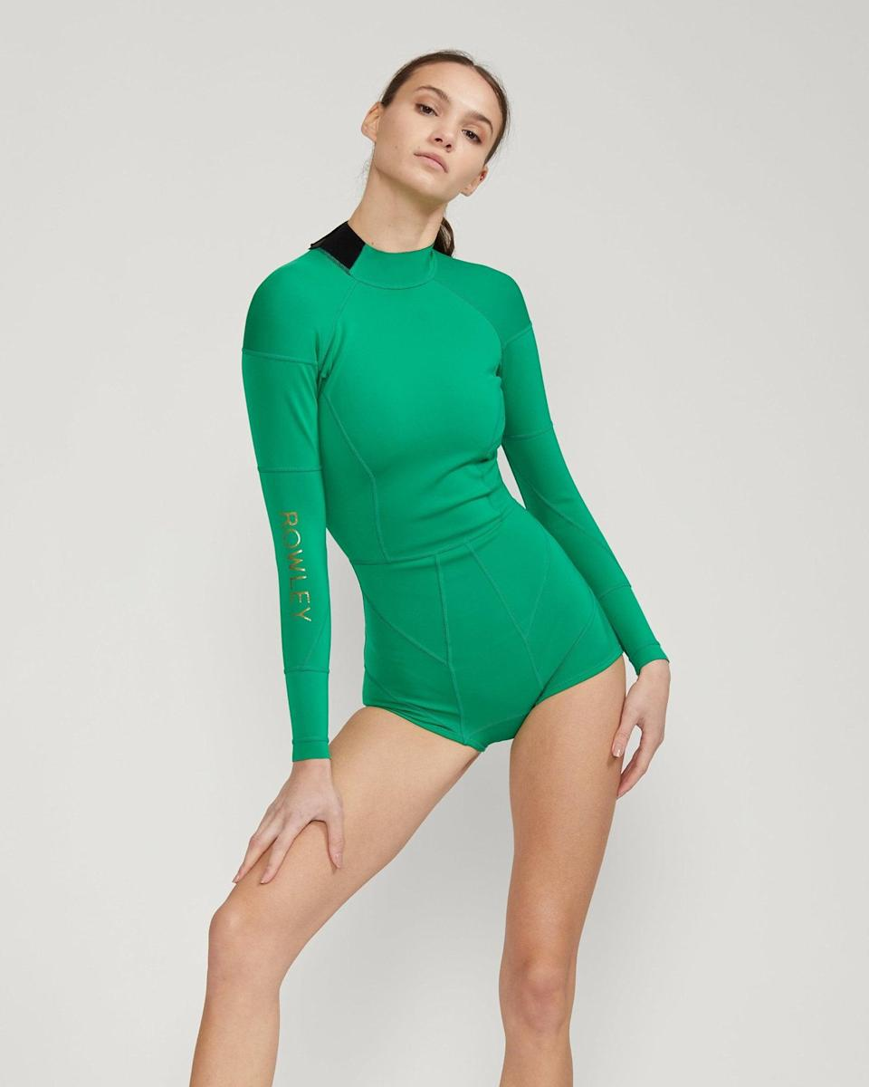 <p>No matter where your day takes you, stay ready in this cute <span>Cynthia Rowley Cheeky Heart Wetsuit</span> ($295).</p>