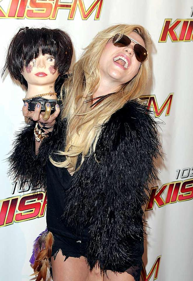 "Ke$ha must be taking lessons from Lady Gaga on how to be ""outrageous"" on the red carpet. Angela Weiss/<a href=""http://www.gettyimages.com/"" target=""new"">GettyImages.com</a> - May 15, 2010"