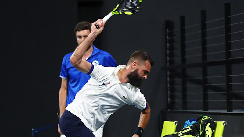 Benoit Paire, pictured here smashing his racquet at the ATP Cup.