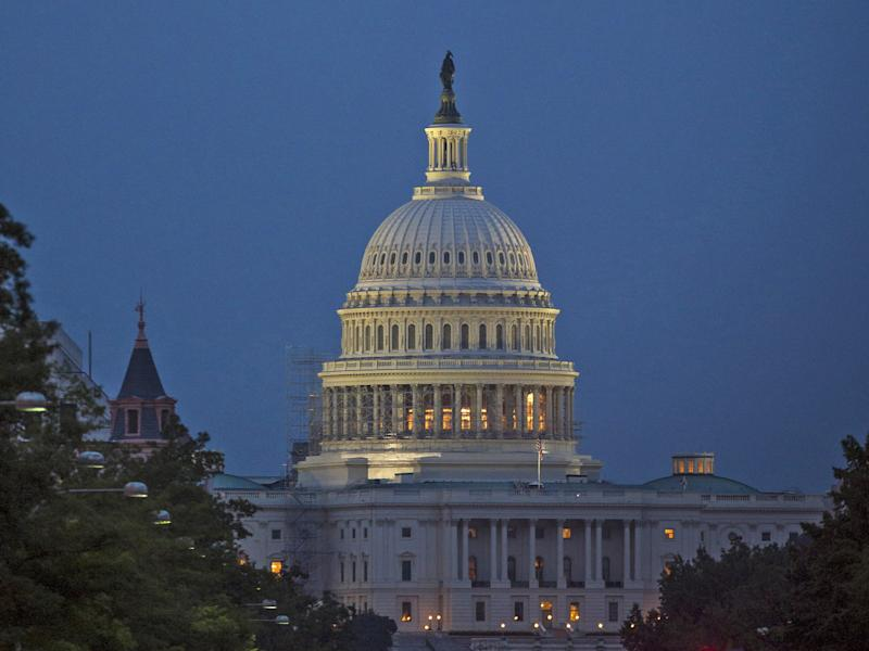The US Capitol building in Washington, DC: Nasa/Getty Images