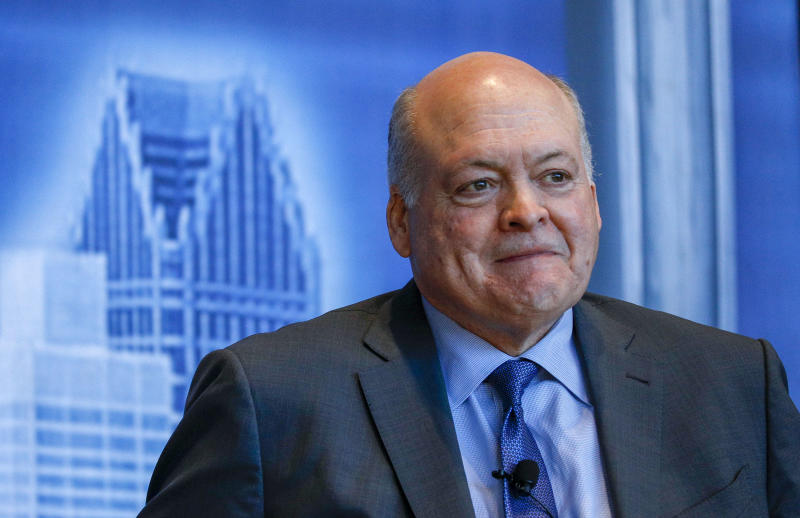 DETROIT, MI - APRIL 09: Ford CEO Jim Hackett speaks at the Detroit Economic Club at Ford Field on April 9, 2019 in Detroit, Michigan. (Photo by Bill Pugliano/Getty Images)