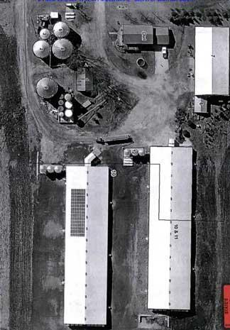 An aerial view of the Mullis farm. / Credit: Delaware County Court