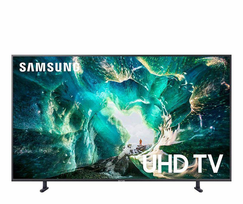 """<p><strong>Samsung</strong></p><p>amazon.com</p><p><strong>$797.99</strong></p><p><a href=""""https://www.amazon.com/dp/B07NC6M3VR?tag=syn-yahoo-20&ascsubtag=%5Bartid%7C10060.g.1674%5Bsrc%7Cyahoo-us"""" target=""""_blank"""">Shop Now</a></p><p>Nearly 50 percent off, this Samsung 8 Series TV has an impeccably vivid 4K display whether you're watching Disney+ or playing video games. You can control the TV with voice commands, and it's compatible with Alexa, Google Home, and AirPlay. Need a new mount for your new TV? <a href=""""https://www.walmart.com/ip/Ematic-30-79-Tilt-Swivel-Universal-TV-Wall-Mount-with-HDMI-Cable-EMW6101/21014003"""" target=""""_blank"""">This universal mount</a> from Walmart is only $25.</p>"""