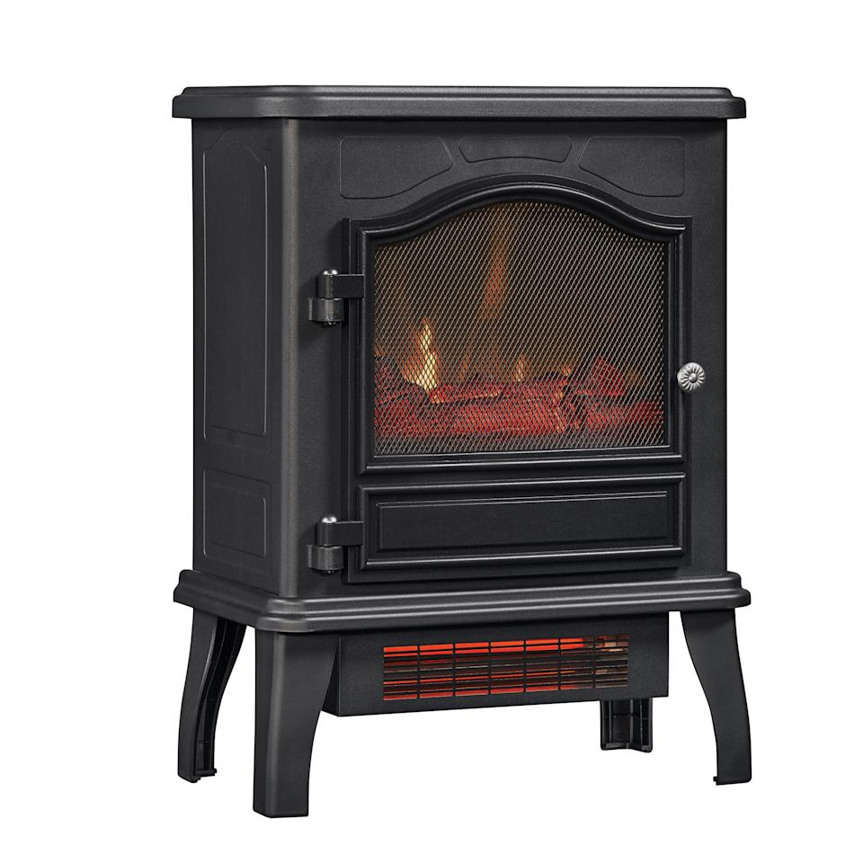 ChimneyFree Infrared Quartz Electric Space Heater, Black. (Photo: Walmart)