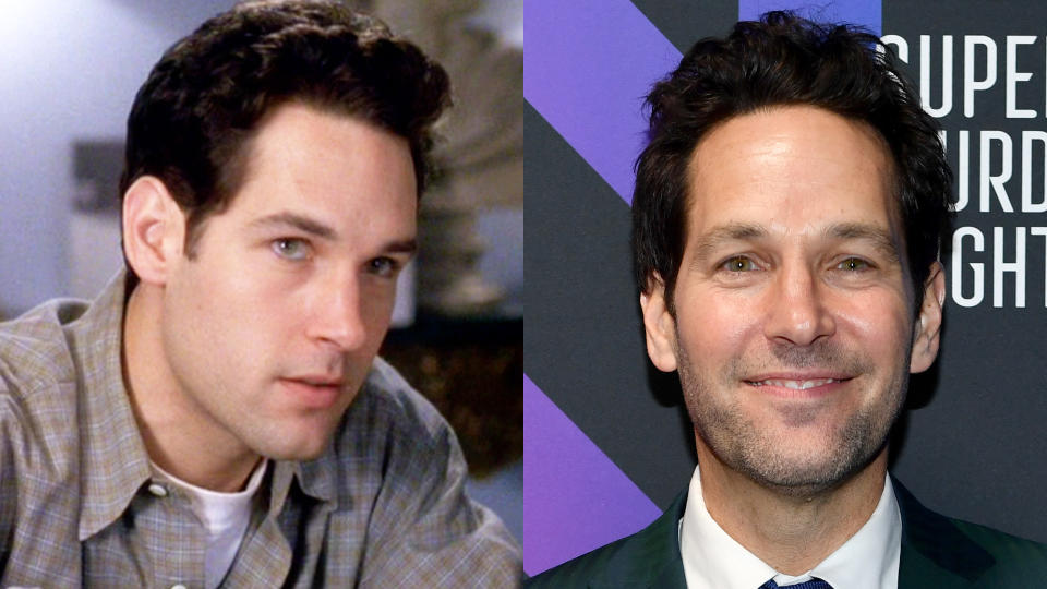 Paul Rudd in 'Clueless' and in 2020. (Credit: Paramount/CBS/Dimitrios Kambouris/Getty Images for AT&T)