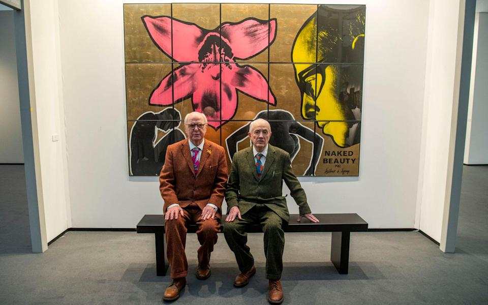 Gilbert & George at Frieze Masters - Paul Grover for the Telegraph