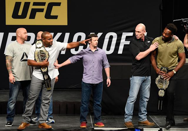 Daniel Cormier vs. Jon Jones 2 is set for July 29 at UFC 214. (Getty)