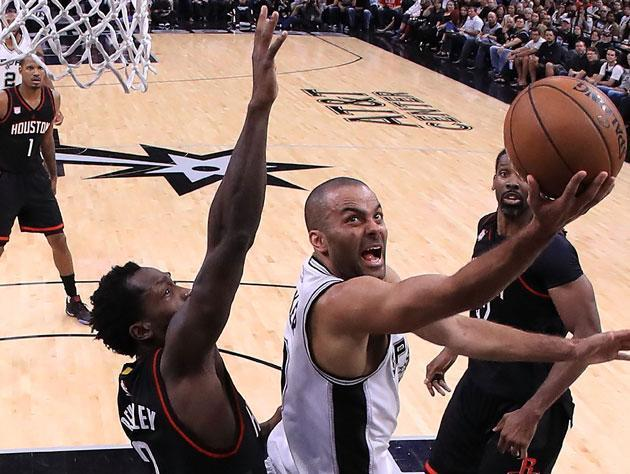 "<a class=""link rapid-noclick-resp"" href=""/nba/players/3527/"" data-ylk=""slk:Tony Parker"">Tony Parker</a> looks to be back in 2018. (Getty Images)"