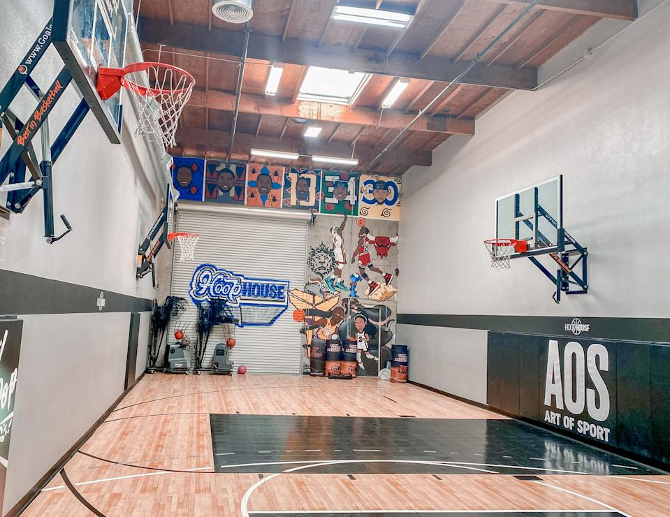 The 40x20 space has four hoops and and just enough space for a 3-point line. (Photo: Krysten Peek)