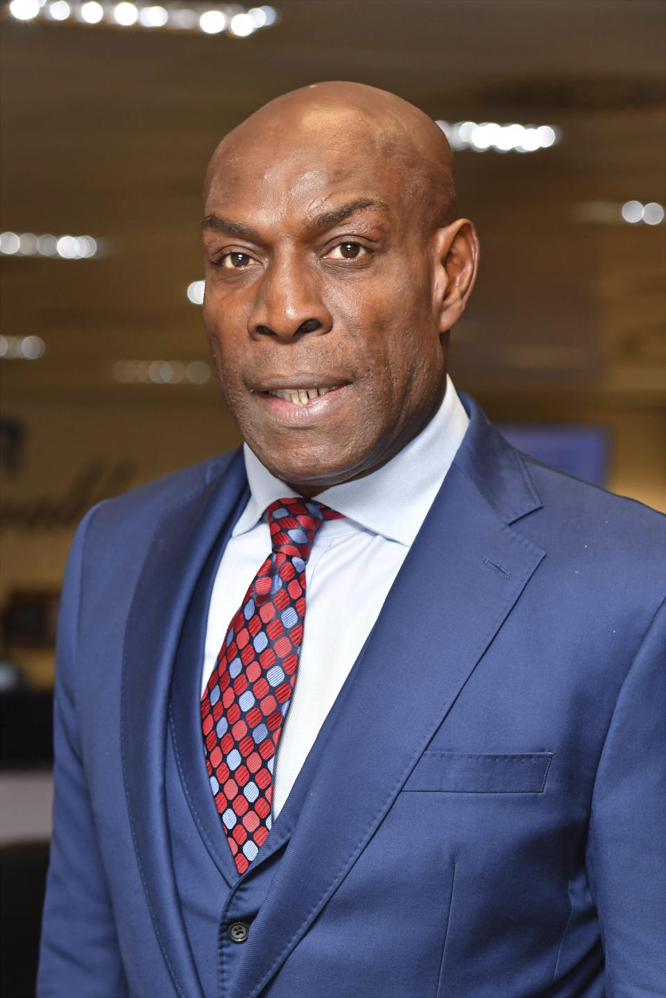 Photo by: KGC-143/STAR MAX/IPx 2018 9/11/18 Frank Bruno at the 14th Annual BGC Charity Day at BGC Partners in Canary Wharf, London, England, UK.