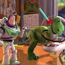 <p>In <em>Toy Story 2</em>, the bugs from <em>A Bugs's Life</em> are all over the place. You can see them on the calendar behind Buzz and Rex, or you can spot Heimlich outside when Buzz is walking in grass. Mr. Potato Head reads a book with pictures of Dot and Flik, and the characters go into a toy store where the shelves are filled with <em>Bug's Life </em>merch. They're even concealed in an abstract painting in Al's living room. </p>